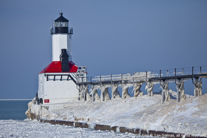Michigan City Lighthouse in Winter Photos